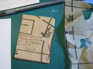 How to make an atc with sewing patterns