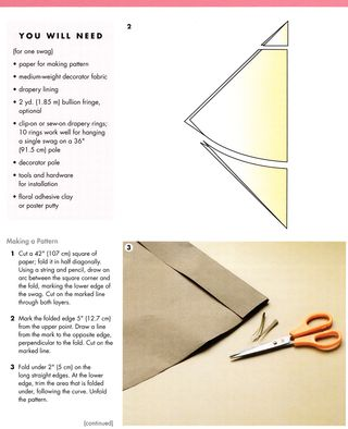 How to cut a swag curtain panel