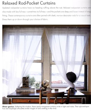 Unusual elements as curtain tie backs