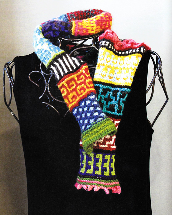 Knitting Scarves From Around The World : Craftside american crazy quilt scarf by susan nix from