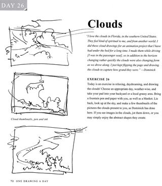 How to sketch draw paint clouds