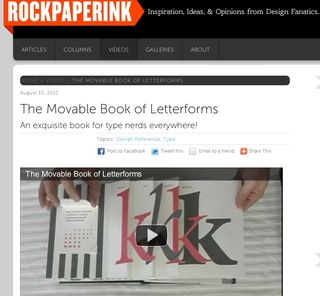 Rock paper ink book letter video