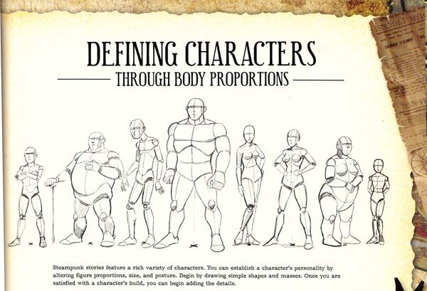 Character Design Proportions : Craftside how to define characters through body