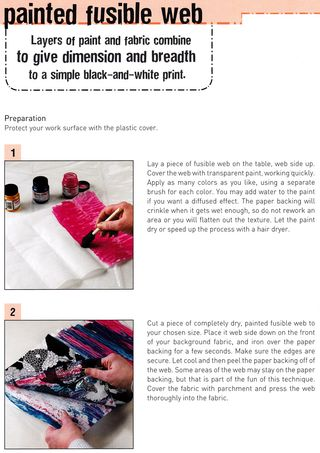 Painted fusible web tutorial transfer