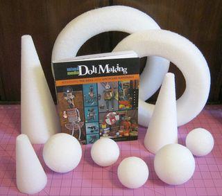 Mixed media doll book styrofoam