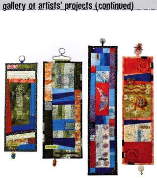 Hanger ideas for fabric art hanging ideas