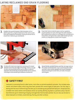 How to lay recycled end grain wood flooring