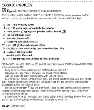 Vegan oreo cookie cookie recipe