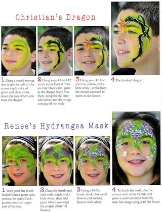 How to face paint dragon hydrangea