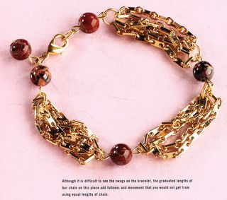 Bead and chain bracelet idea book