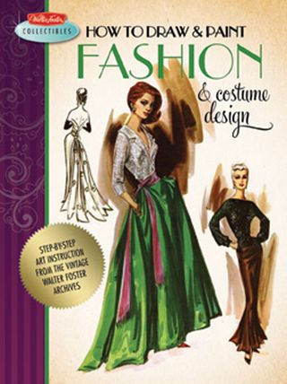 How to draw and paint vintage fashion