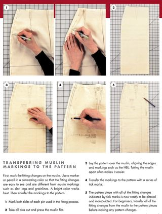 Transferring muslin markings to the patter