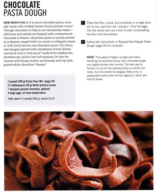 Recipe for chocolate pasta how to make
