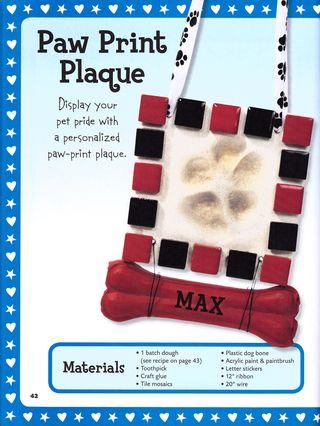 How to make a dog paw print plaque