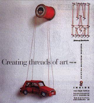 Creating threads of art spool hanger