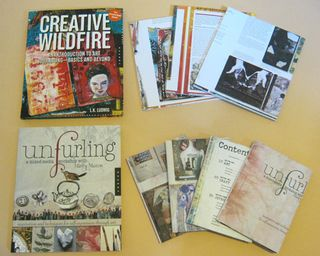 Creative wildfire unfurling journals
