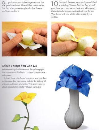 How to fold origami lily flower bouquet