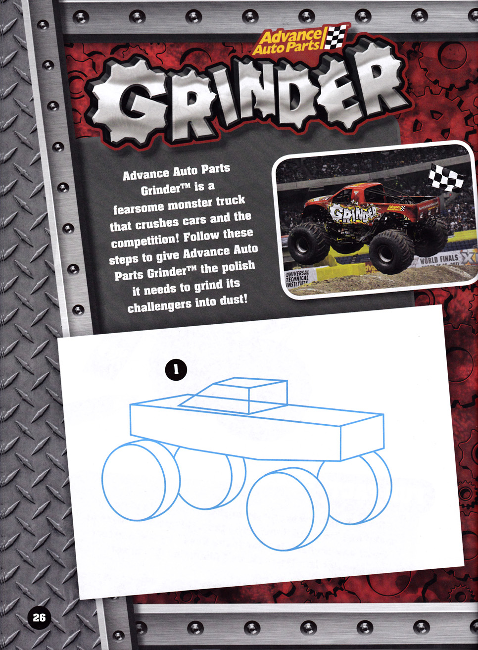 Craftside How To Draw Monster Trucks From The Monster Jam Drawing Activity Book