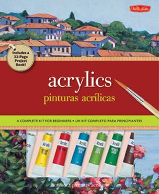 How to paint with acrylics book kit