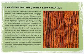 What is quarter-sawn wood advantages