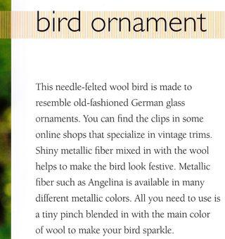 How to needle felt a bird ornament