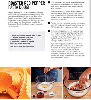 Roasted red pepper pasta dough recipe