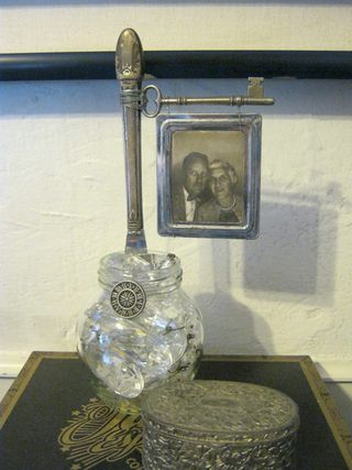 Steampunk key knife photo display