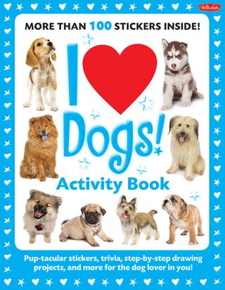 I love dogs activity book stickers games