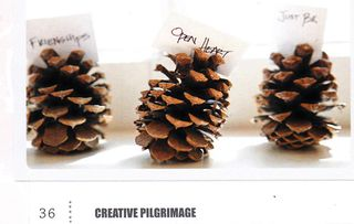 Pine cone placecard holders the makerie