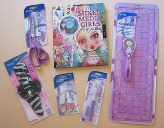 Mixed media girls scissor giveaway