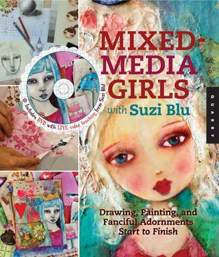 Mixed media girls by suzi blu