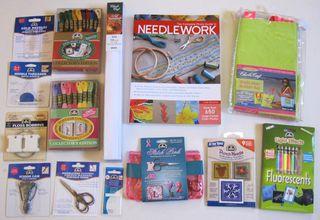 Dmc floss scissors needlework book