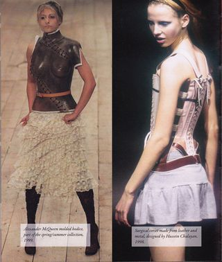Oversized lace up stitch detail corset