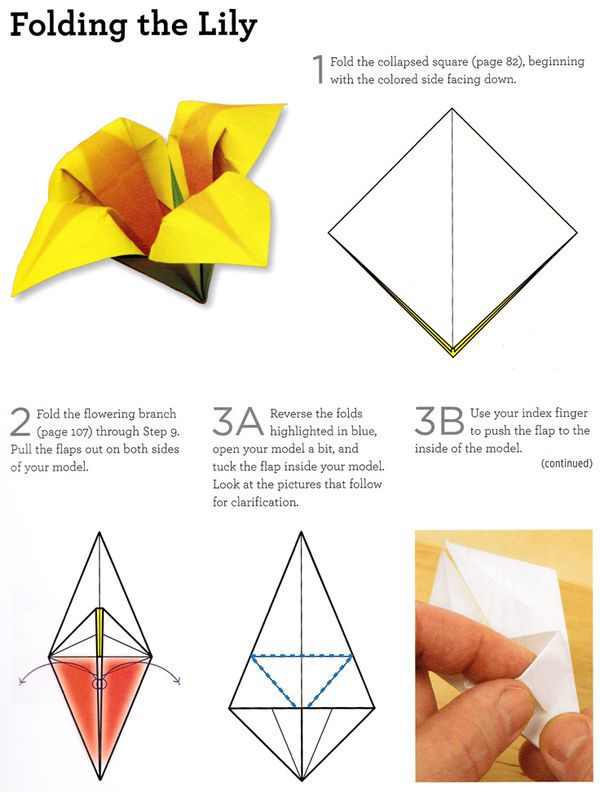 Craftside How To Fold An Origami Lily From Origami 101