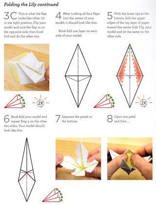 How to fold an origami paper flower