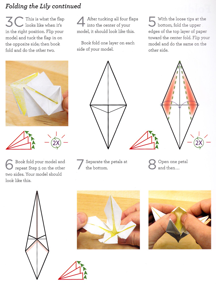 wikiHow — Origami Lily Make your own! Short step-by-step... | 986x750