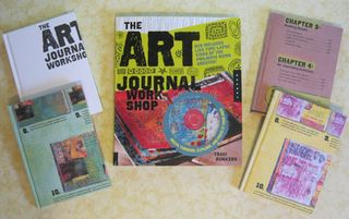 Recycled journal art journal workshop craftside