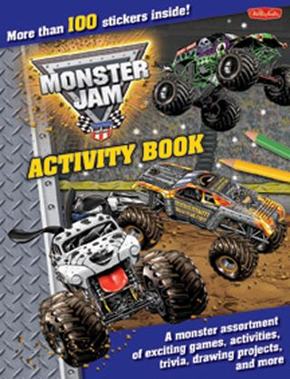 Monster jam activity book how to draw