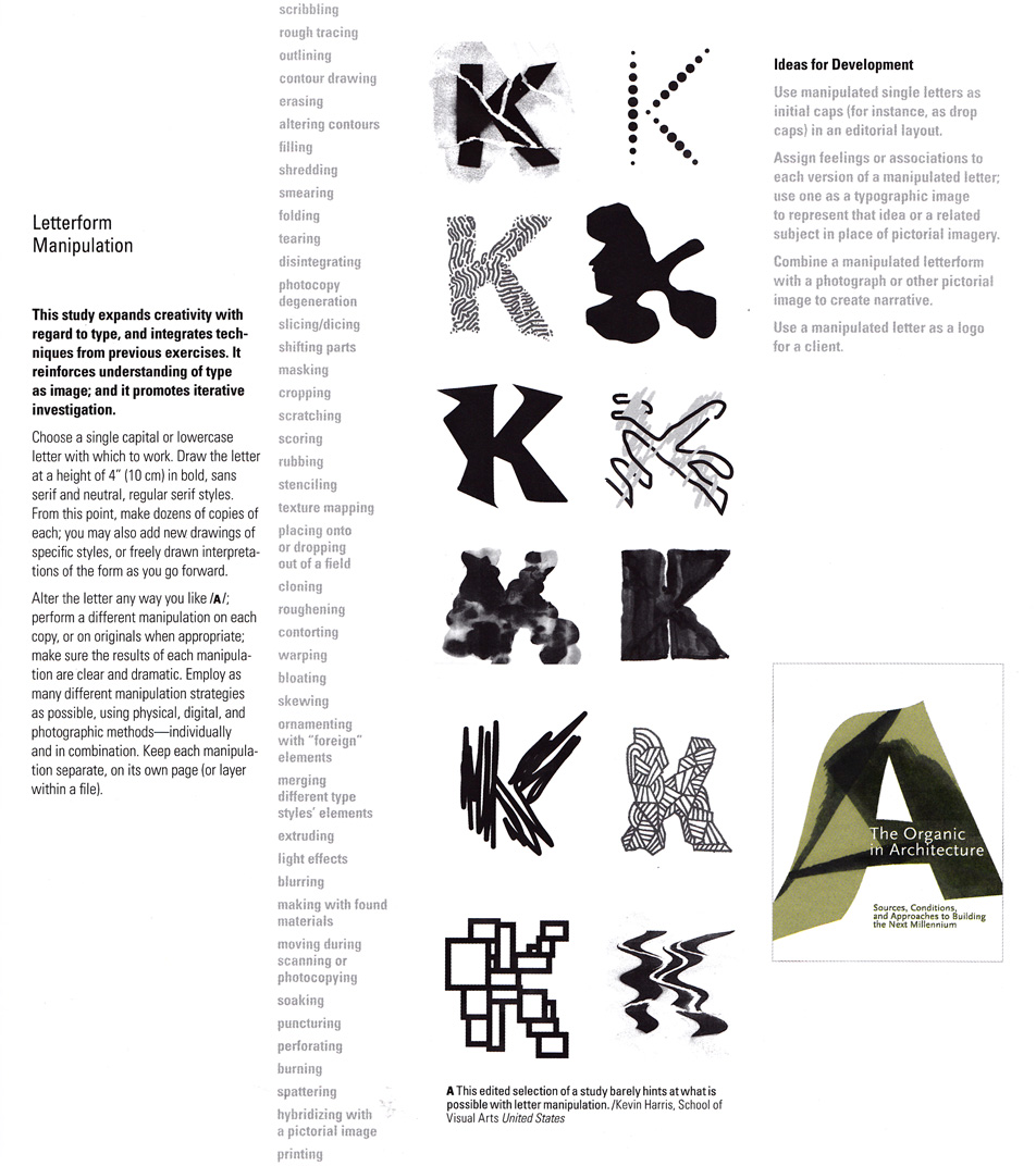 Letter K Drawn In 12 Ways Creative Font
