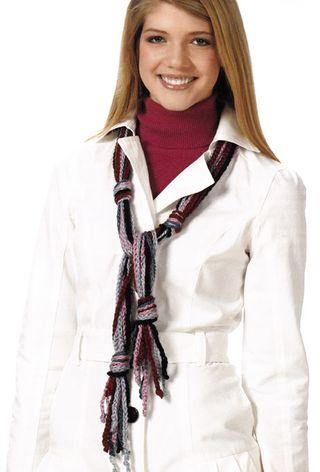 Crochet chain scarf sampler