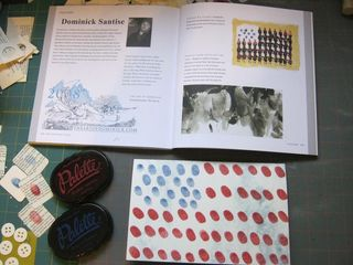 Finger print american flag 4th july craft