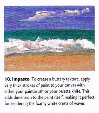 How to paint imasto style texture