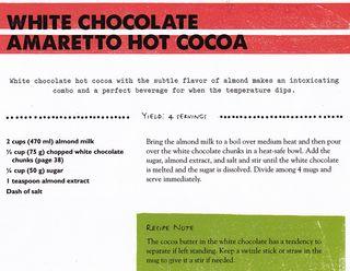 Recipe white chocolate amaretto cocoa