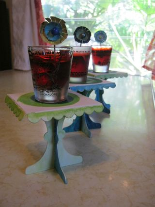 Jello shot cupcake stands with toothpicks