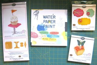 Sizzix cupcake stand water paper paint book