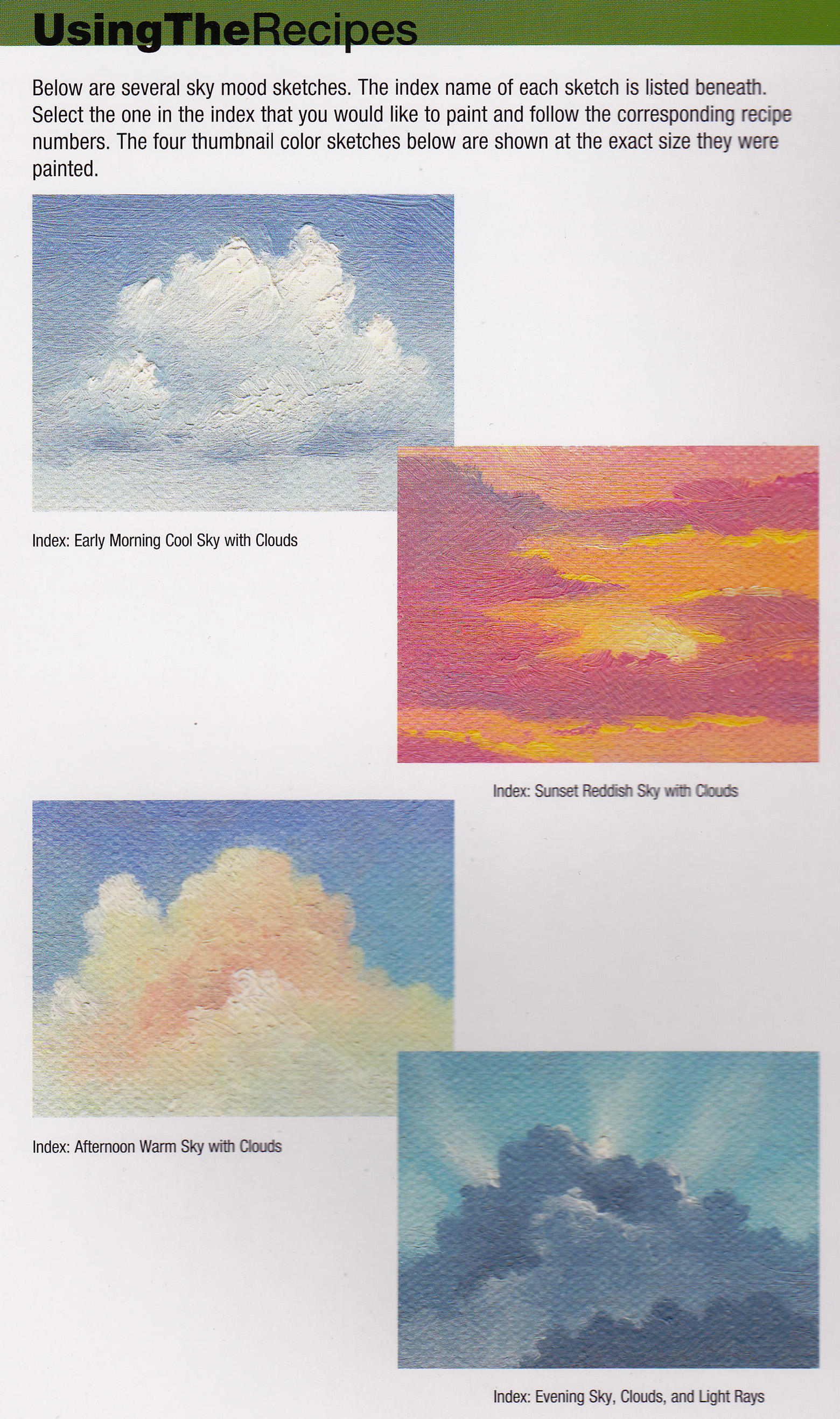 Craftside: Sky color combinations from the book 1,500 Color Mixing ...