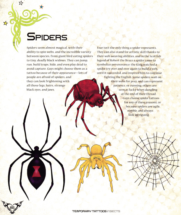 Craftside Spider Tattoo Art And Symbolism From The Book Temporary