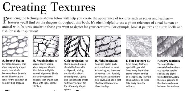 Craftside How To Draw Scales And Feather Textures From