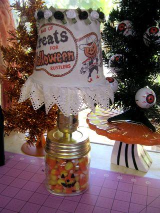 Candy corn jar pumpkin face martha stewart