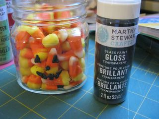 Martha stewart glass paint pumpkin face